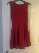 Red Skater Dress - Club @ New Look - M/L