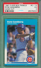 Hand Cut 1987 Fleer Box Panels #C-14 Ryne Sandberg HOF Graded PSA 3 VG Cubs ^TBM