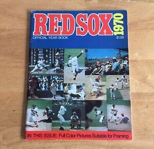 Boston Red Sox Official 1970 Yearbook Carl Yastrzemski Tony Conigliaro
