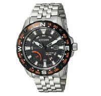 Citizen Eco-Drive Men's PRT Black Compass Black Multi Dial 44mm Watch AW7048-51E