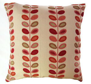 Nj02a Linen Blend Red Green Yellow Leaf Cushion Cover/Pillow Case*Custom Size*