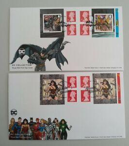 2021 DC Comics Batman & Wonder Woman Plain Retail Booklets FDC Batley & Eagle