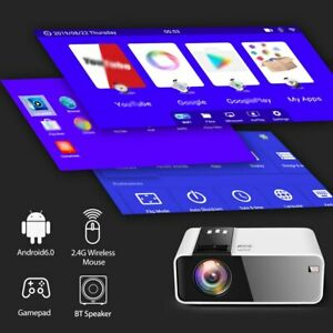 HD Mini Projector 1280 x 720P LED Android WiFi Home Cinema 3D Smart Movie Game