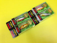 Lot C of Four Rapala Countdown CD-7 in 4 Japan Special Colors Lures, NIB.