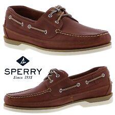 Sperry Top-Sider Mako 2-Eye Canoe Moc Shoes Work Comfort Leather Walking NWB