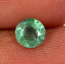 Certified Natural Emerald Round Cut 6 mm 0.75 Cts Zambian Green Loose Gemstone