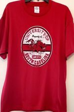 Mens T-shirt Delta University of SC Gamecock Logo Print Garnet S/S Cotton NWT L