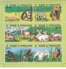 Sao Tome and Principe : French National Exhibition ( Animals ) 1991 MNH