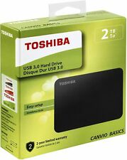 HDD Disco Duro Toshiba Externo 2.5'' 4TB USB3.0 (3.1 Gen 1) CANVIO BASICS Negro