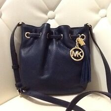 Michael Kors Ring Tote Crossbody Navy Leather Women's Shoulder Bag NWT