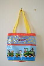 "Noddy Vinyl Tote Book Bag Tessie Bear Bumpy Dog on the Train 11"" x 13"" x 6"""