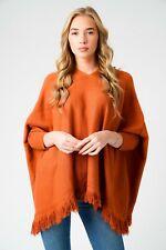 New Ladies Lagenlook Italian Knitted Ribbed V Neck Cable Knit Tassle Hem jumper