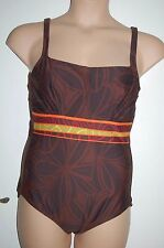 Rasurel Swimming Costume Underwired Non Padded Brown Mix UK 40C EUR 90C BNWT