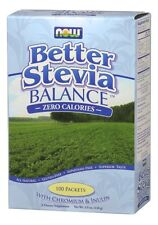 Better Stevia Balance Now Foods 100 Packets Box, Sweetener