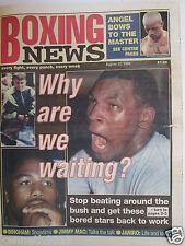 Boxing News 20 Aug 1999 Tyson Lewis Hamed Johnson - Manfredy Arturo Gatti,