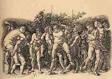 Mantegna Andrea Bacchanal With Silenus A4 Print