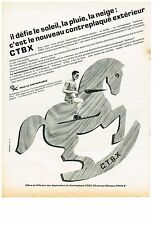 PUBLICITE  1970    ODAC  contreplaqué bois CTBX