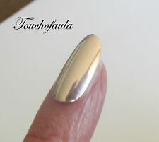 High Polished In Rose Gold 14K Solid Gold Finger Nail