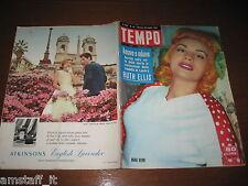 RIVISTA TEMPO 1955/30=MARA BERNI=RUTH ELLIS=IL PIRELLONE=DARLNE HARD=MEL FERRER=