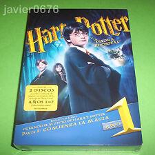HARRY POTTER Y LA PIEDRA FILOSOFAL NUEVO Y PRECINTADO 2 DISCOS DVD + LIBRO