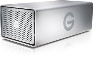 "NEW G-Tech G-RAID Silver 8TB 7200RPM 3.5"" USB 3.0 Dual Drive HDD Storage System"