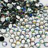 1000 AB Crystal Silver Back Sparkly Acrylic Rhinestones Gems 1.5 2 3 4 5 6mm