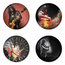 Slash, Guns, Velvet Revolver - 4 chapas, pin, badge, button