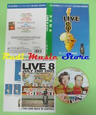 DVD LIVE ROMA 2 LUGLIO 2005 ZUCCHERO PLANET FUNK POVIA JOVANOTTI no mc lp vhs cd