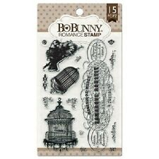Bo Bunny ~ ROMANCE ~ Clear stamp set ~ 15 stamps BNIP