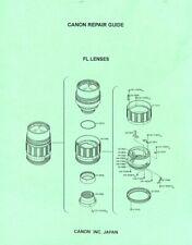 Canon FL Lenses Service & Repair Manual Reprint