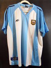 AFA Argentina Soccer Jersey ~ Blue White Striped FutBol Football MENS Large