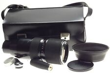 CONTAREX CAMERA LENS ZEISS VARIO-SONNAR ZOOM 4/85-250mm RARE CASE CAPS GRIP HOOD
