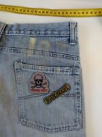 Boys Piping Hot Blue Denim Shorts, Faded, Size 16, Boardriders