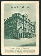 Leipzig ( Germania ) : Erwig 's hotel Fürstenhof  - cartolina viaggiata 1939