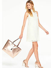 V by Very High Neck Lace Swing Dress in Ivory Size 14 Brand New, With Tags