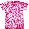 Tie Dye T Shirt Tye Die Festival Hipster Indie Retro Unisex Top Spider Pink 6