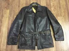 New listing Mens M - Vtg 50s Californian Horsehide Car Coat Talon Zipper Leather Jacket
