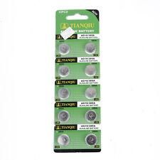 10pcs AG10 389 LR54 SR54 SR1130W 189 L1130 1.55V Alkaline Button Watch Battery