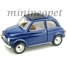BBURAGO 18-12020 1965 65 FIAT 500 F 1/18 DIECAST MODEL CAR BLUE