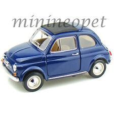 BBURAGO 18-12020 1965 65 FIAT 500 F 1/16 DIECAST MODEL CAR BLUE 1/18