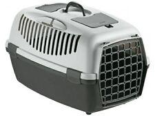 Trasportino gulliver 3 per cani gatti colore grigio scuro/chiaro 61X40XH38