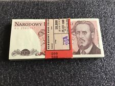 Poland Banknote 100 Zlotych Mint Unc Please Be aware you are buying one note!