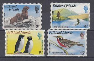 Îles Falkland 222 - 25 le Tourisme Nature Oiseaux Poissons Etc. (MNH)