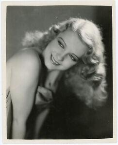 Ziegfeld Follies Beauty Betty Real Original 1931 Sensuous Glamour Photograph