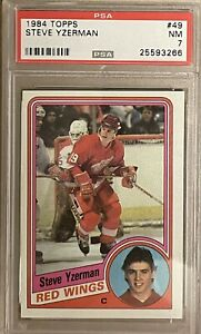 1984 1985 TOPPS Steve Yzerman PSA 7 RC ROOKIE #49 Red Wings