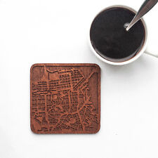 San Francisco map coaster One piece  wooden coaster Multiple city IDEAL GIFTS