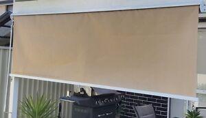 Outdoor Roller Blind/Awning With Aluminium HOOD 1.5m x 2.5m for Windows/Verandah