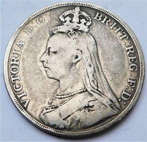 NO RESERVE 1890 Queen Victorian Silver Crown