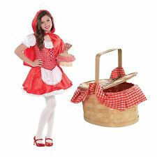 Red Riding Hood Tejido Cesta Guinga Cuento de Hadas Accesorio Disfraz Elaborado Vestido