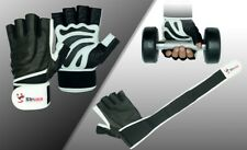 Shuma Weight Lifting Gloves Gym Fitness Training Workout Exercise Leather Gloves